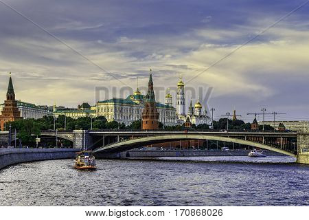 The Moscow Kremlin -- the greatest monument of Russian history a brilliant creation of Russian national art and architecture