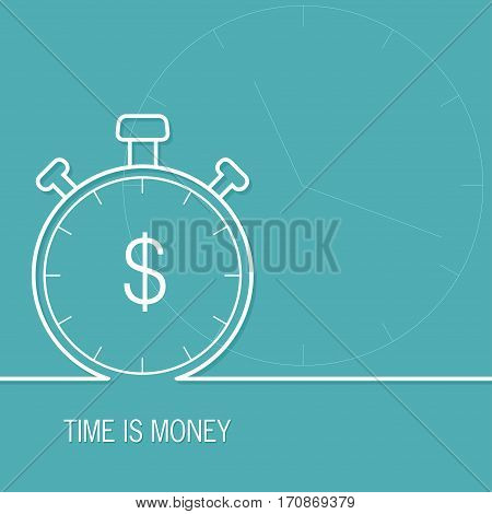 Time is money business metaphor concept. Vector illustration.