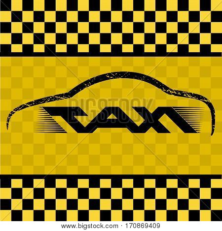 Modern taxi cab logo for company. Vector illustration of taxi app icon for web, mobiles and devices.  Public transport symbol. Emblem