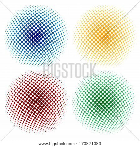 halftone abstract background. Halftone dots. Vector illustration of halftone dots background.
