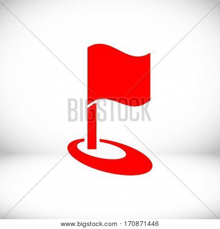 flag icon stock vector illustration flat design