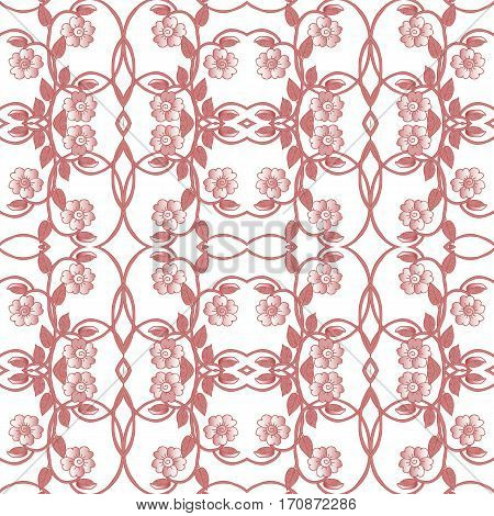 Floral seamless pattern. Fabrics, textile, ceramic tiles.