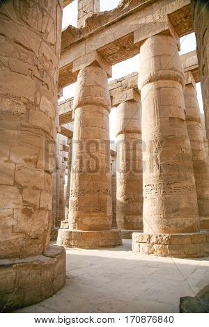 Great Columns In Karnak Temple