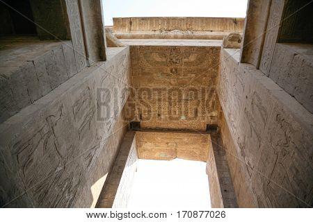 High Ceiling In Edfu Temple