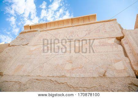 Wall In Karnak Temple