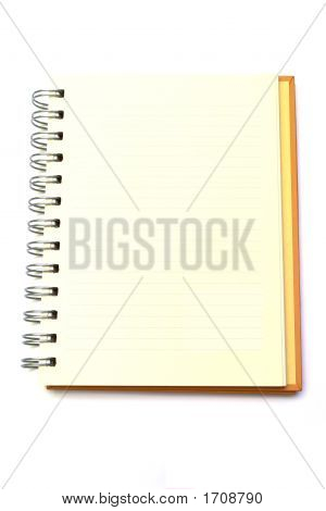 Lined Notebook Isolated