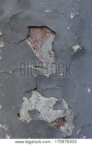 Photo of gray wall with plaster sprinkled