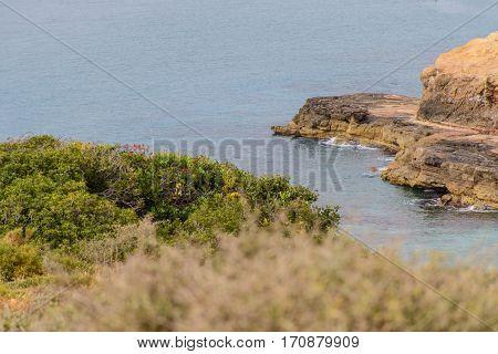 Beautiful seascape. The coast of the island of Crete