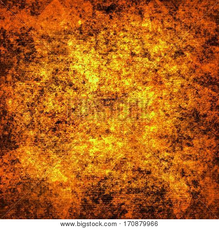 abstract colored scratched grunge background - orange and yellow