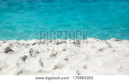 Tropical white sand beach landscape at daytime Maldives