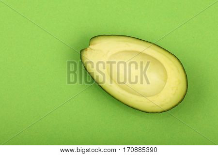 Fresh Ripe Avocado On Green Paper