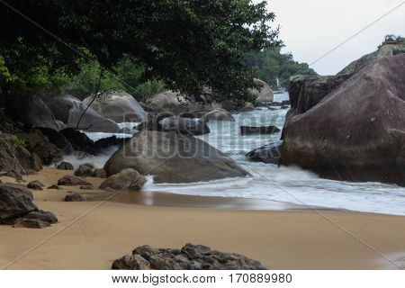 Beach of Aracatibinha in Ilha Grande Rio de Janeiro - Brazil