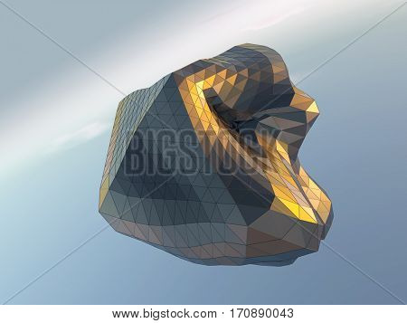 abstract architectural surface, 3d illustration