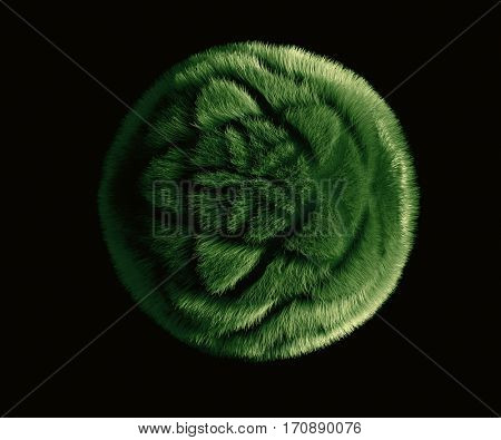 patterned cutting the grass, 3d illustration