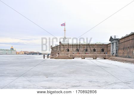 Bastion of Peter and Paul Fortress in St.Petersburg, Russia.