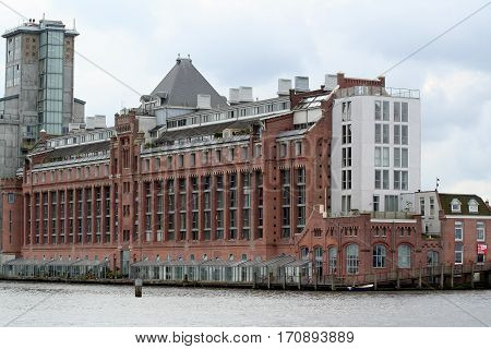 Old Factory Along River Ij