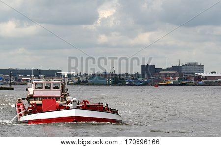 Netherlands Amsterdamjune 2016: Transport via water in Amsterdam