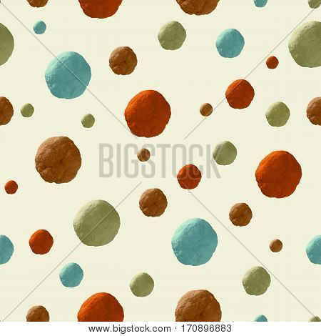 3d colorful asteroids pattern seamless background 3d rendering