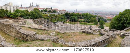 Panoramic View Of The Amphitheater Of Lyon France