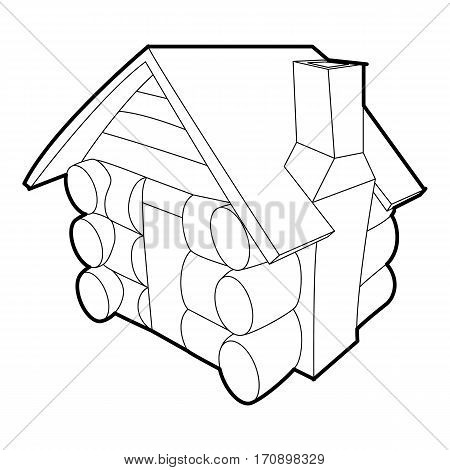 Small hut icon. Outline illustration of small hut vector icon for web