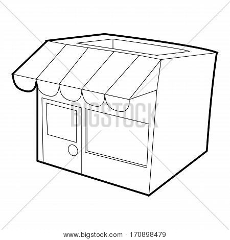 Store icon. Outline illustration of store vector icon for web