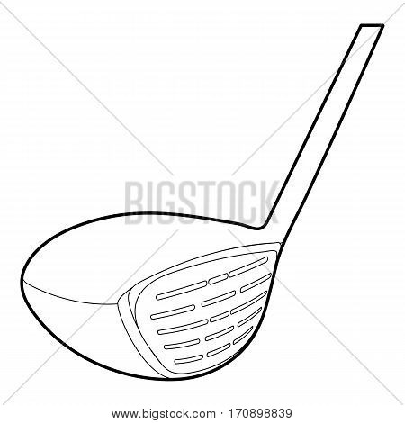 Golf stick icon. Outline illustration of golf stick vector icon for web