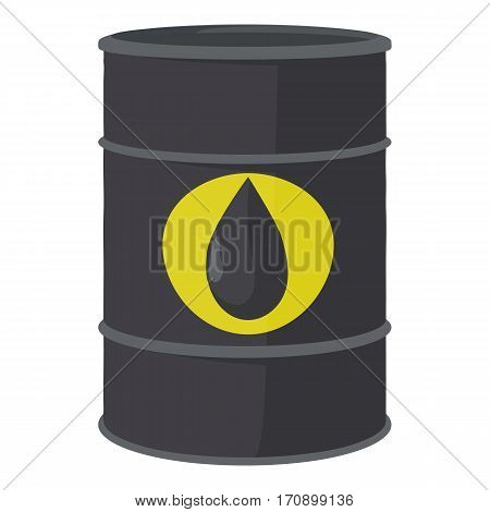 Oil barrel icon. Cartoon illustration of oil barrel vector icon for web