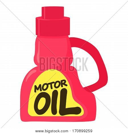 Motor oil icon. Cartoon illustration of motor oil vector icon for web