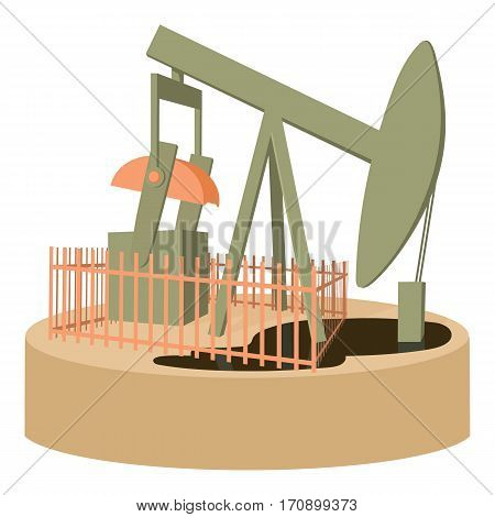 Oil pump icon. Cartoon illustration of oil pump vector icon for web