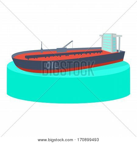 Ship tank icon. Cartoon illustration of ship tank vector icon for web