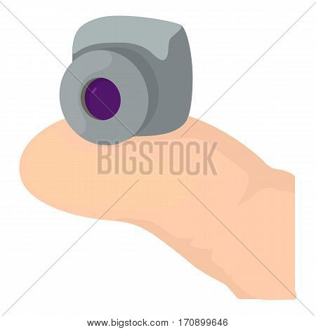 Mini camera icon. Cartoon illustration of mini camera vector icon for web