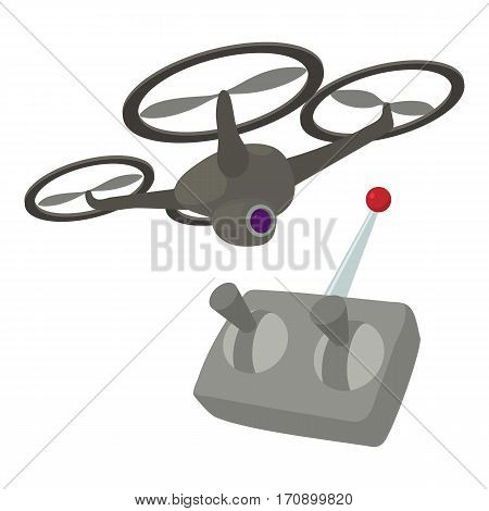 RC helicopter icon. Cartoon illustration of RC helicopter vector icon for web
