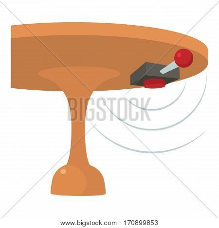 Listening device icon. Cartoon illustration of listening device vector icon for web