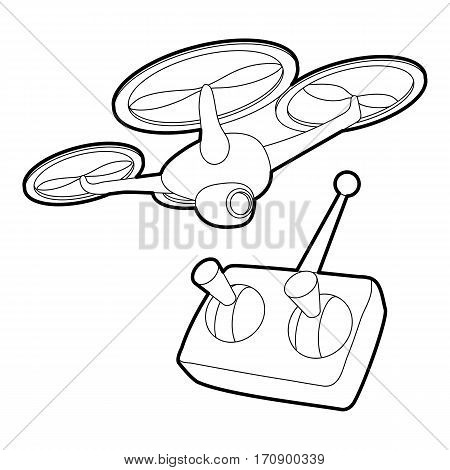 Rc helicopter icon. Outline illustration of rc helicopter vector icon for web