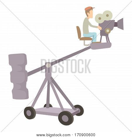 Difficult filming icon. Cartoon illustration of difficult filming vector icon for web
