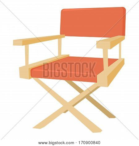 Film director chair icon. Cartoon illustration of film director chair vector icon for web
