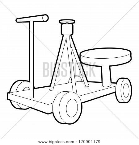 Filming equipment icon. Outline illustration of filming equipment vector icon for web