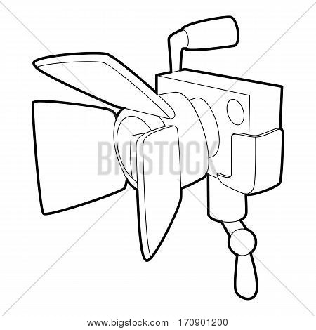 Spotlight icon. Outline illustration of spotlight vector icon for web