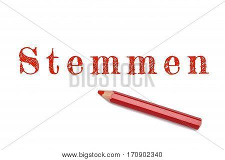 Stemmen Text Sketch Red Pencil