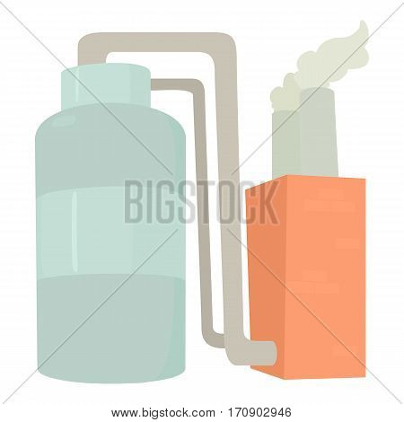 Tank and pipe icon. Cartoon illustration of tank and pipe vector icon for web