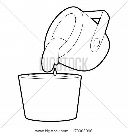 Liquid metal icon. Outline illustration of liquid metal vector icon for web