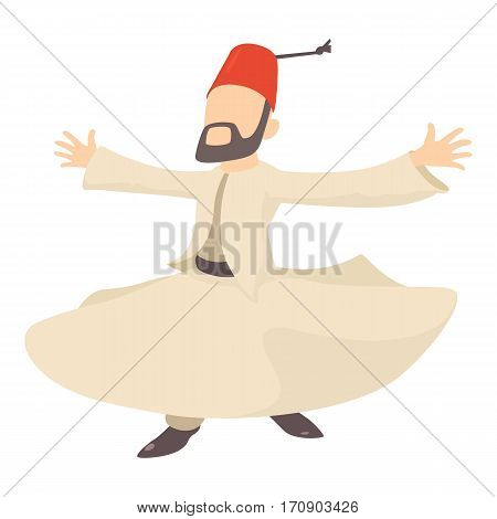 Arabic man icon. Cartoon illustration of arabic man vector icon for web
