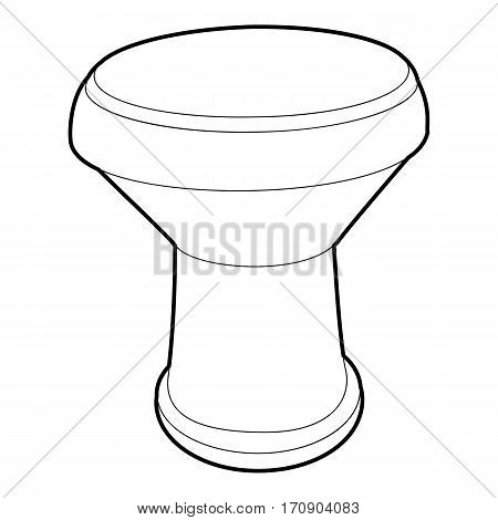 Tamtam icon. Outline illustration of tamtam vector icon for web