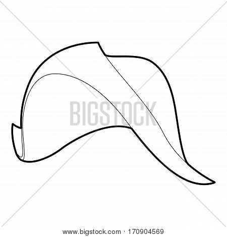 Fisherman hat icon. Outline illustration of fisherman hat vector icon for web