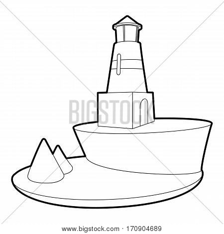 Lighthouse icon. Outline illustration of lighthouse vector icon for web