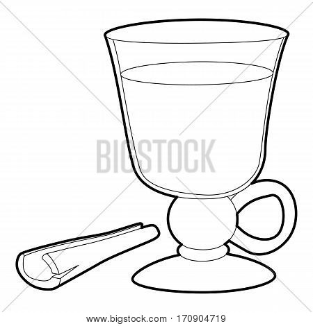 Mulled wine icon. Outline illustration of mulled wine vector icon for web