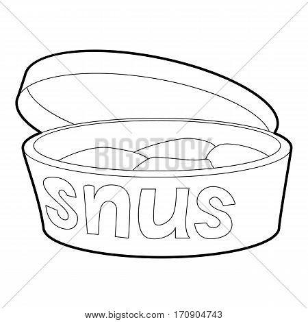 Cookie box icon. Outline illustration of cookie box vector icon for web