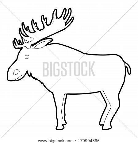 Elk icon. Outline illustration of elk vector icon for web