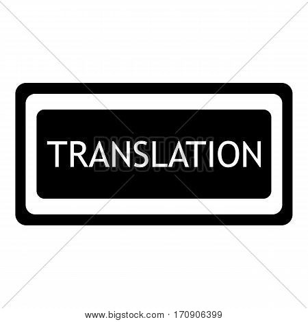 Translation icon. Simple illustration of translation vector icon for web