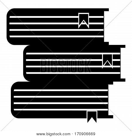 Foreign books icon. Simple illustration of foreign books vector icon for web